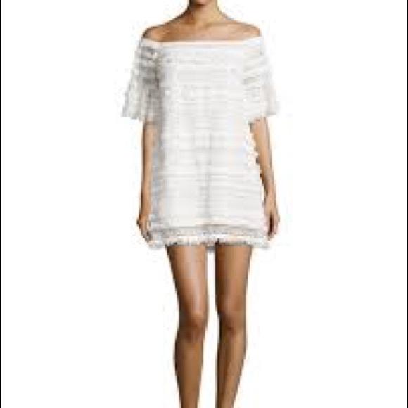 ad790e47f826 Alexis Fringe   Lace Off-Shoulder Pablo Dress M